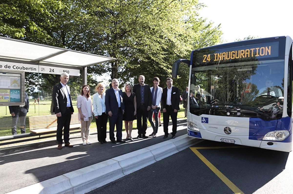 Inauguration officielle de la ligne 24